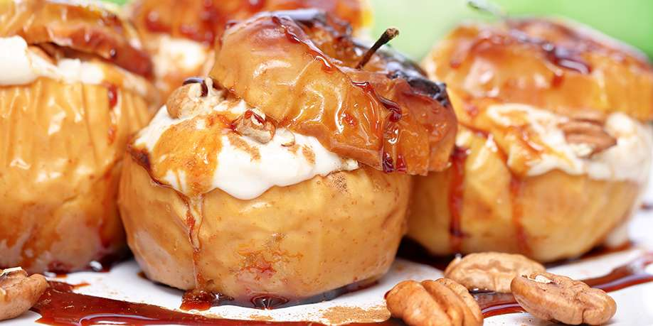 Baked Apples with Cream Cheese and Nuts