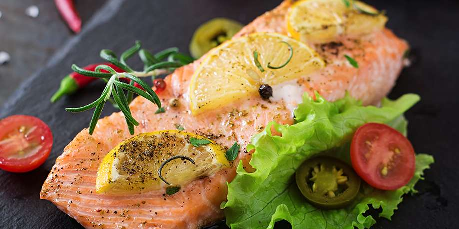 Baked Salmon with Mustard and Lemon