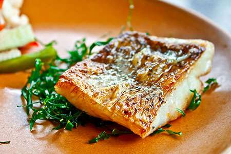 Baked Seabass Filet with Oranges