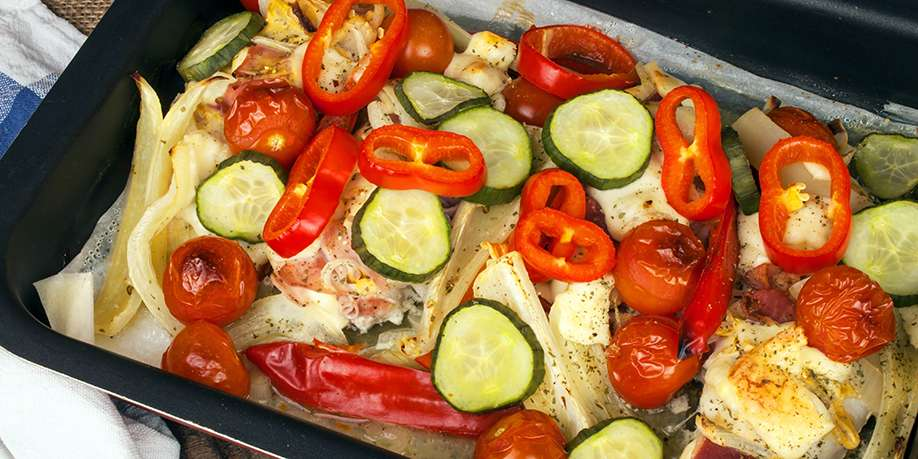 Baked Turkey Breast with Vegetables