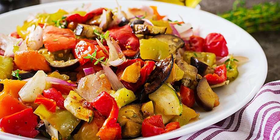 Baked Vegetables in Garlic Marinade