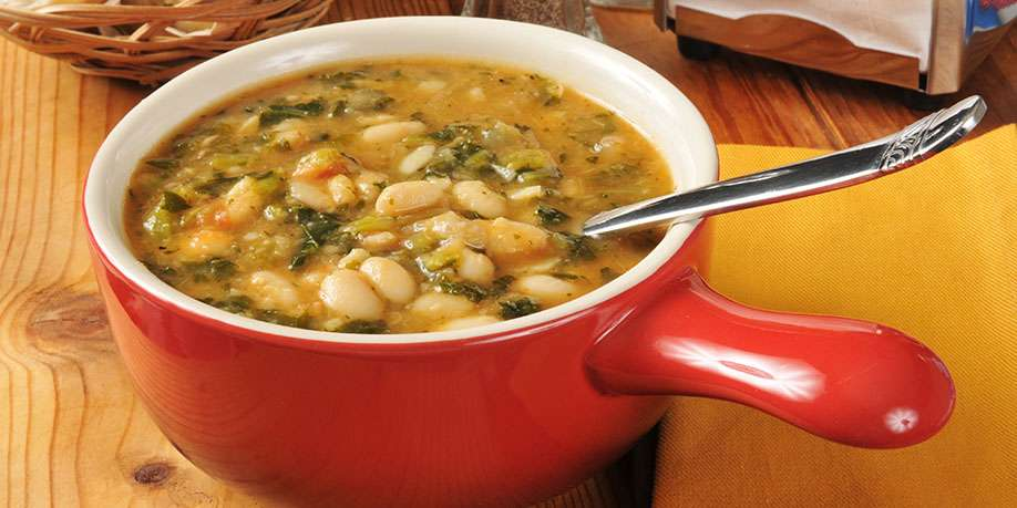 Bean Soup with Zucchini