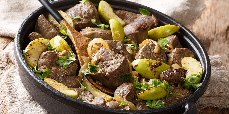 Beef Liver with Apples