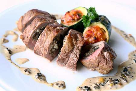 Beef Roll-Up with Mushrooms