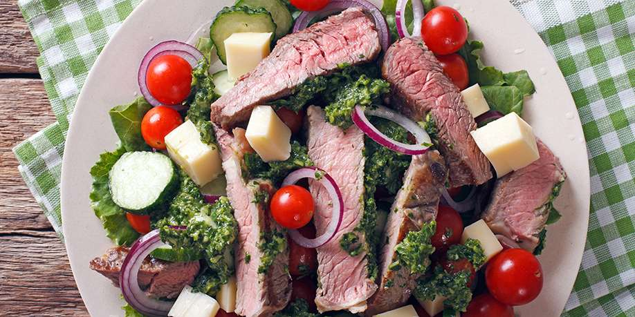 Beef Steak in Chimichurri Sauce