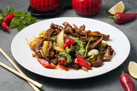 Beef with Soy Sauce and Vegetables