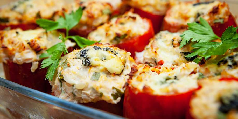 Bell Pepper Stuffed with Chicken Breast and Vegetables