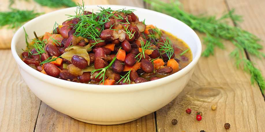Boiled Beans with Vegetables