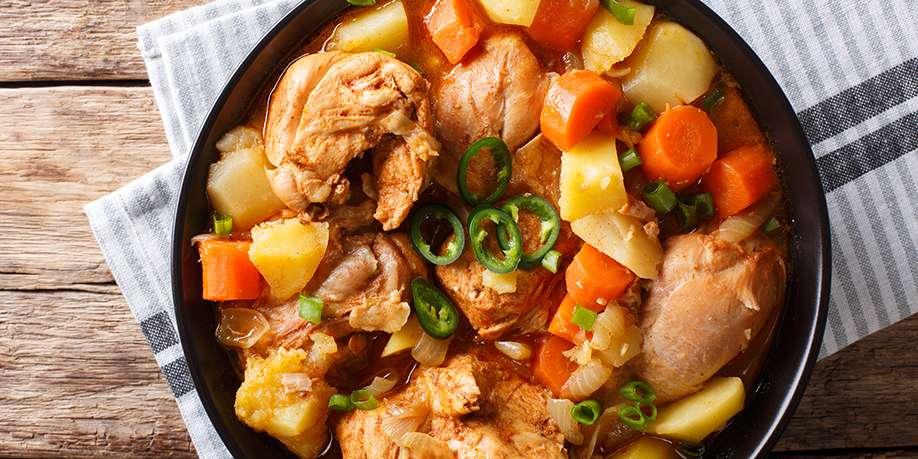 Braised Turkey with Vegetables