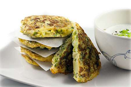 Broccoli and Parmesan Fritters