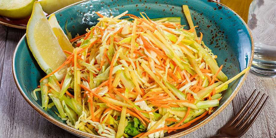 Cabbage, Apple, and Carrot Salad