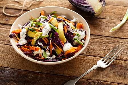 Cabbage and Avocado Salad