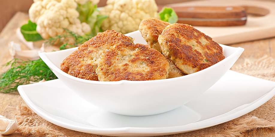 Cauliflower Cutlets Stuffed with Egg and Scallion