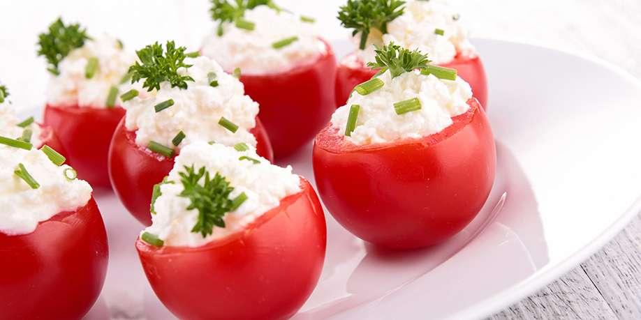 Cherry Tomatoes Stuffed with Mozzarella