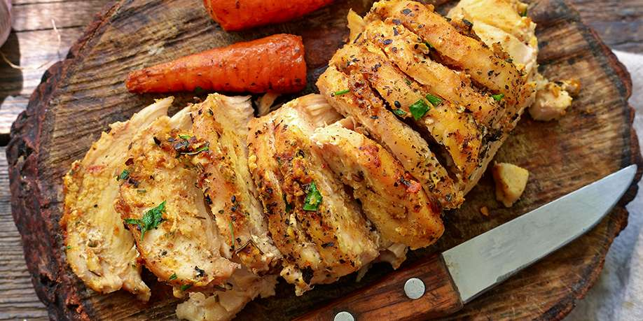 Chicken Breast Baked Fennel, Carrots and Oranges