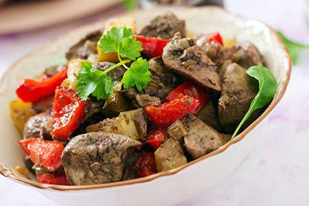 Chicken Liver with Apples