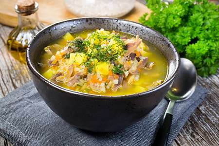 Chicken Soup with Vegetables and Barley