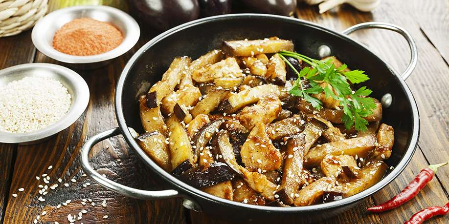 Chicken with Eggplants