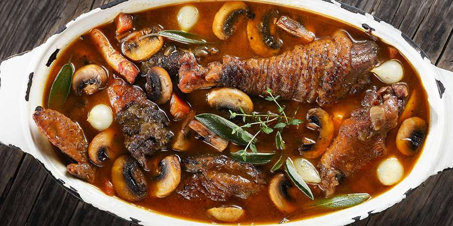 Coq Au Vin (Rooster in Wine)