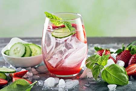 Cucumber-Basil Lemonade