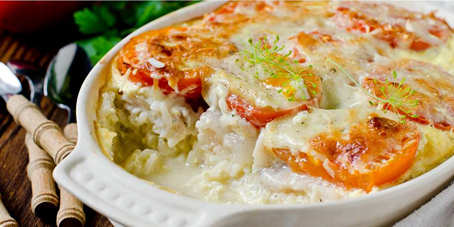 Fish Casserole with Rice