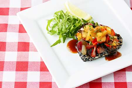 Fish with Fruit Sauce