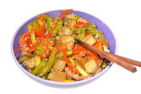 Fried Tofu with Green Beans