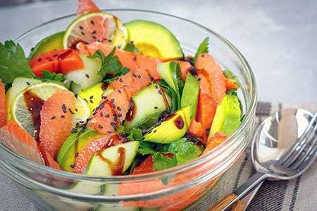 Grapefruit, Salmon and Avocado Salad