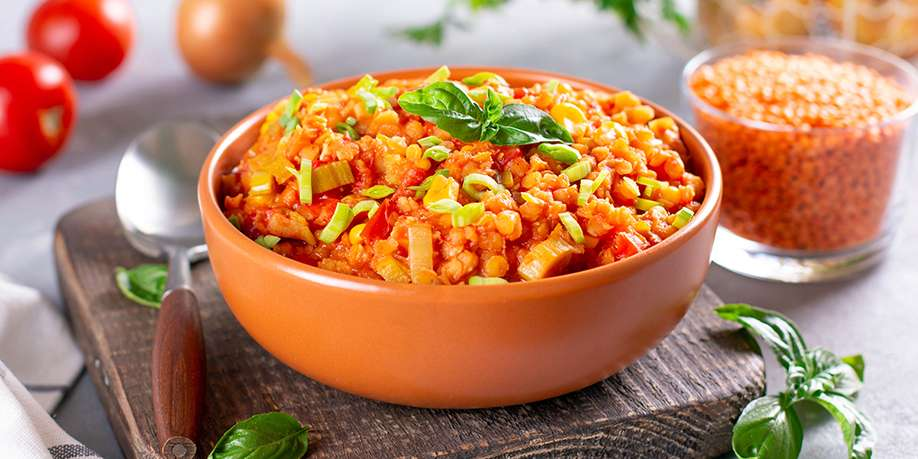 Lentils with Carrots and Onions
