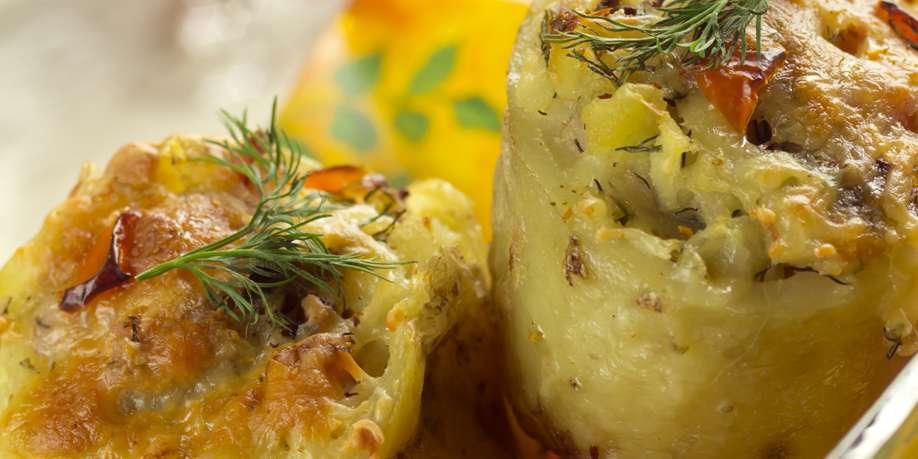 Mashed Potato Rolls with Mushrooms