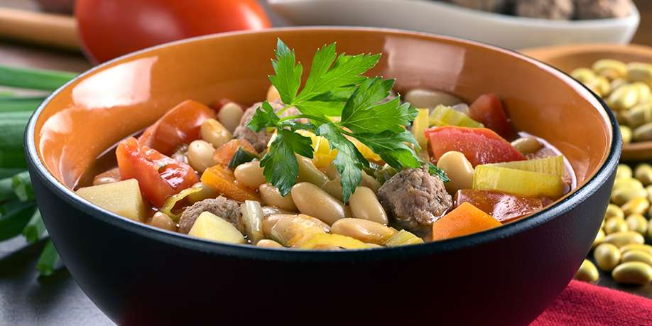 Meatball and Bean Soup