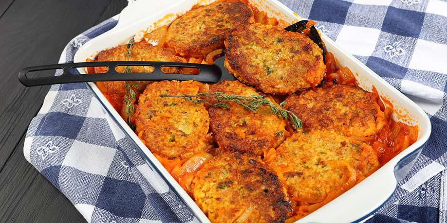 Oven Baked Fishcakes with Carrots and Herbs