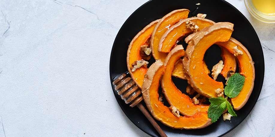 Pumpkin Baked with Honey