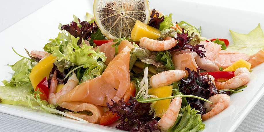 Salmon Shrimp Avocado Salad