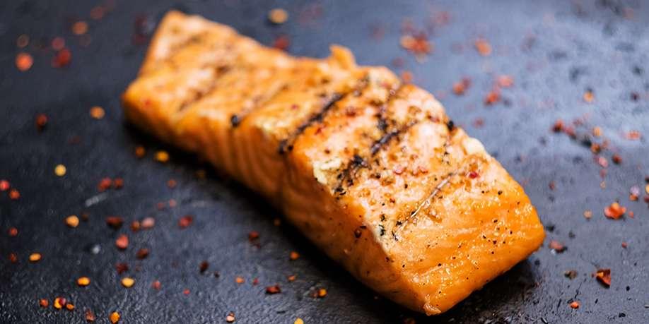 Salmon with Coriander and Garlic
