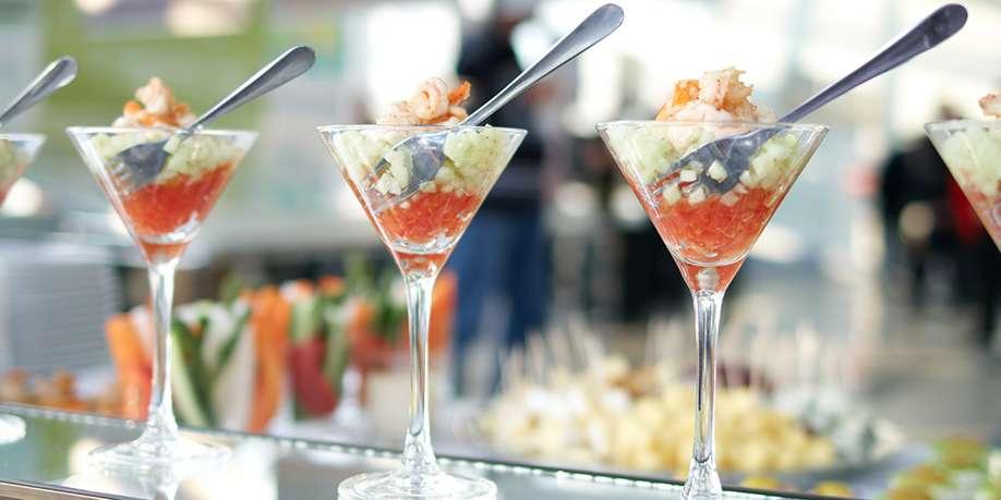 Shrimp Cocktail with Celery