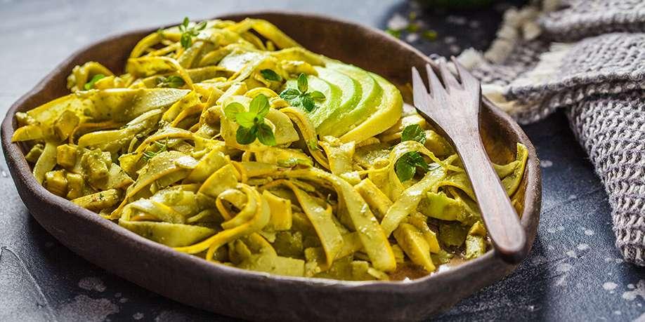 Spaghetti with Zucchini and Avocado Sauce