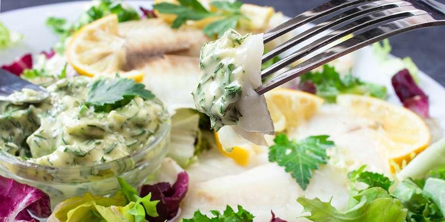 Tilapia Filet with Cauliflower Salad