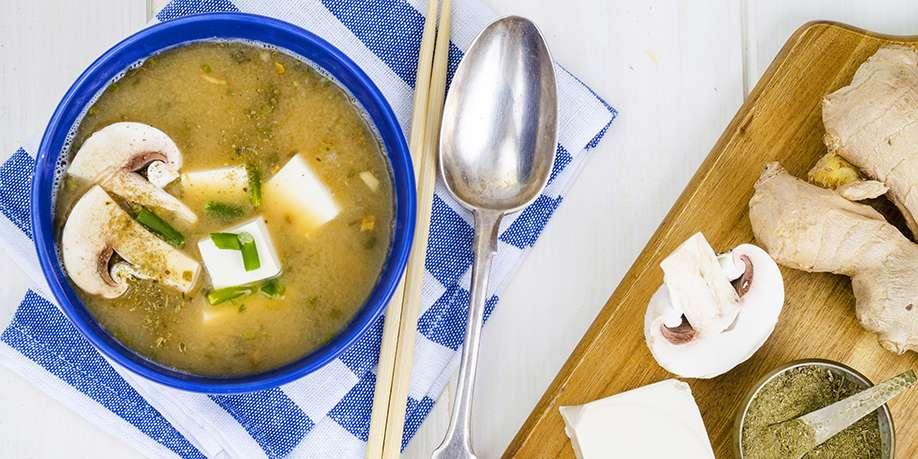 Tofu and Mushrooms Soup