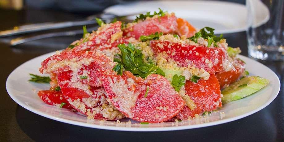 Tomato Salad with Cilantro and Honey
