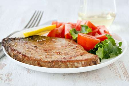 Tuna Steak in Soy Sauce