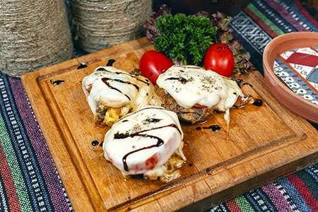 Veal with Zucchini and Mozzarella