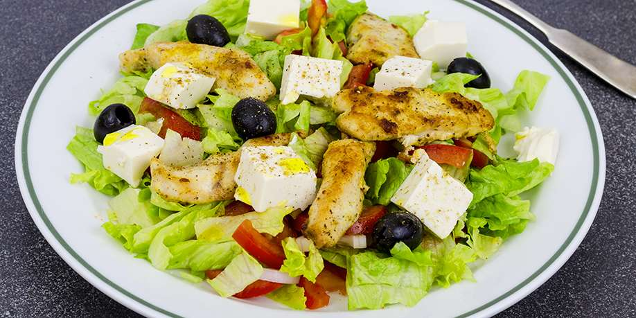 Vegetable Salad with Chicken Breast and Tofu