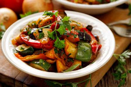 Vegetable Stew with Eggplants
