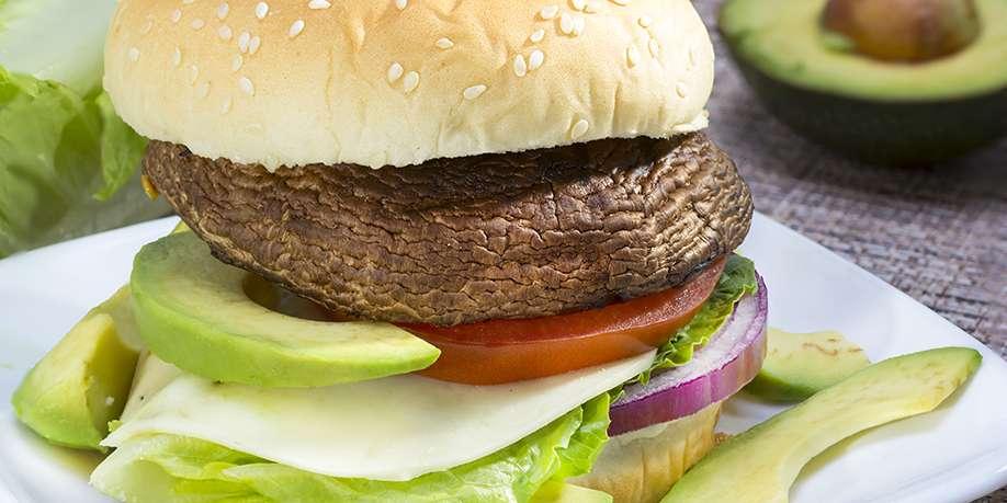 Vegetarian Portobello Burger