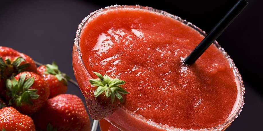 Virgin Strawberry Daiquiri Cocktail