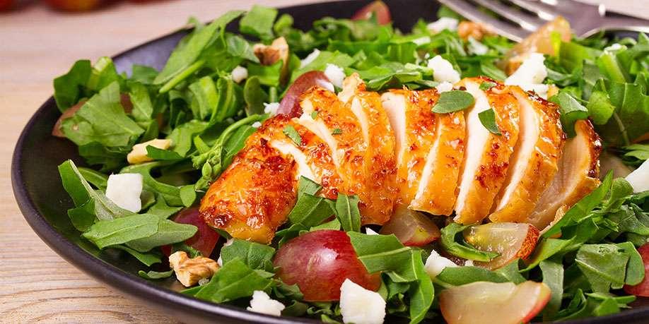 Warm Chicken and Fruit Salad