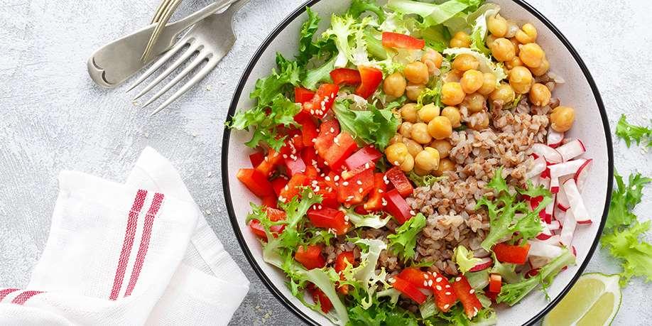 Warm Vegetable Salad with Buckwheat
