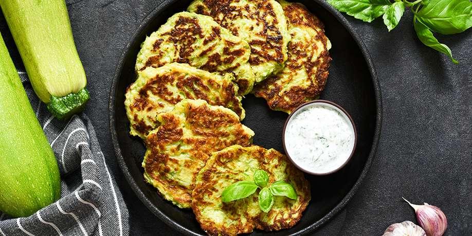 Zucchini Pancakes with Garlic