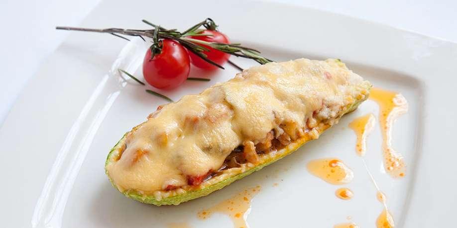 Zucchini Stuffed with Buckwheat and Mushrooms